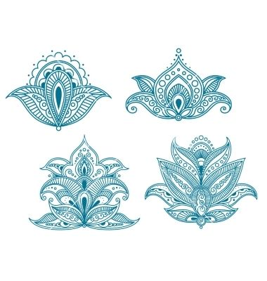 Abstract persian floral embellishments vector by Buchan on VectorStock®