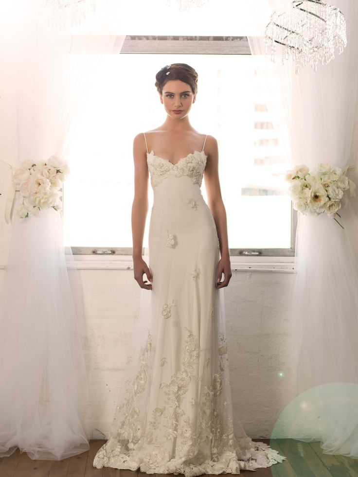 Sarah Janks Wedding Gown - Fall 2014 Collection {Daphne} : shimmering with a beaded and embroidered botanical motif