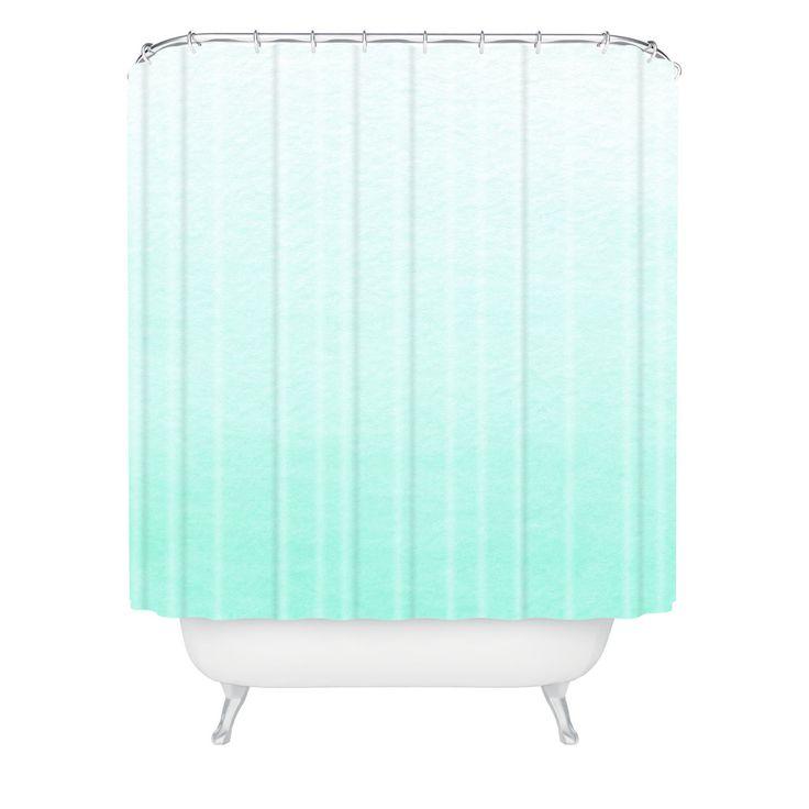 Social Proper Mint Ombre Shower Curtain