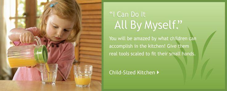 Montessori kid size supplies for real life stuff