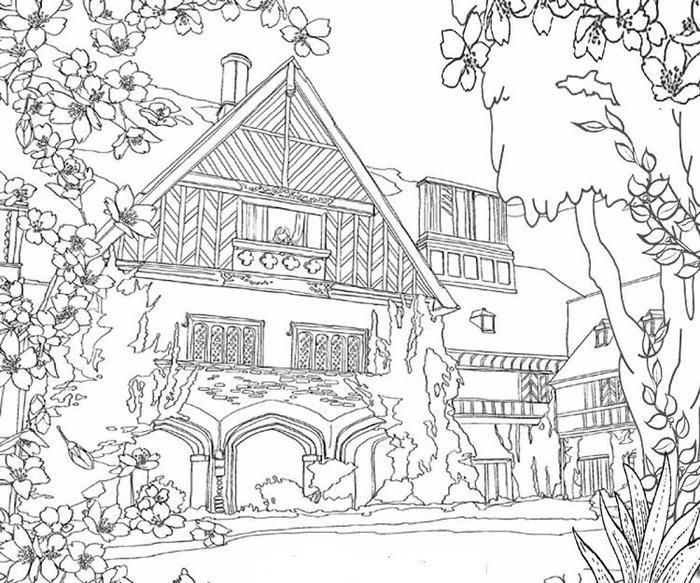 Big House Coloring Pages House Colouring Pages Coloring Pages Adult Coloring Pages