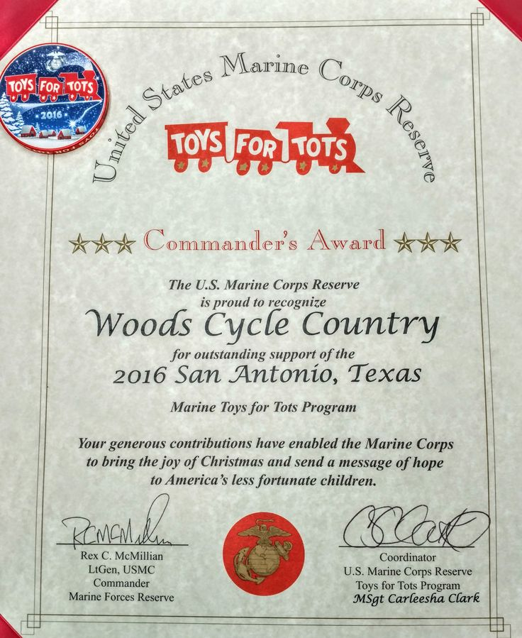 Toys For Tots Certificate : Best woods cycle country images on pinterest all