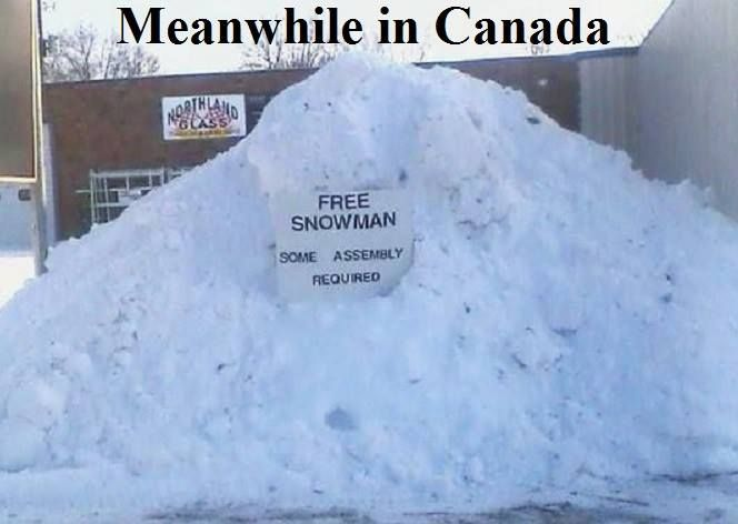 Meanwhile, in Canada #snowman