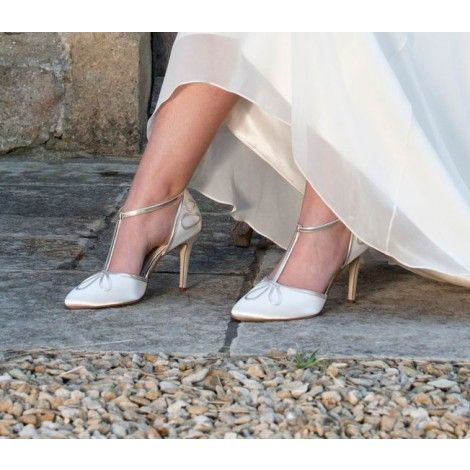 Elspeth by Rainbow Club Ivory Dyeable Satin Wedding or Occasion Shoes