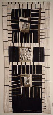 MelindaSnyder, Mark Making II, 2010 -cotton, linen and silk fabrics
