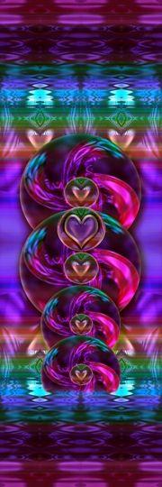 Earth Codes Heart Art