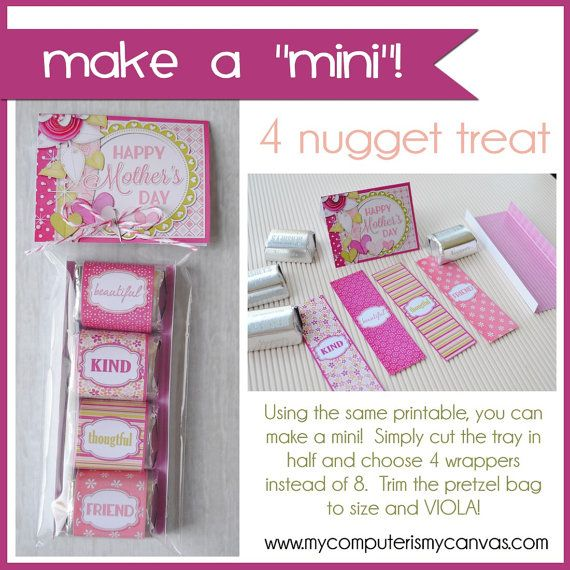 Nugget Gift Ideas Apparel: Mother's Day Nugget Wrappers With Tray By