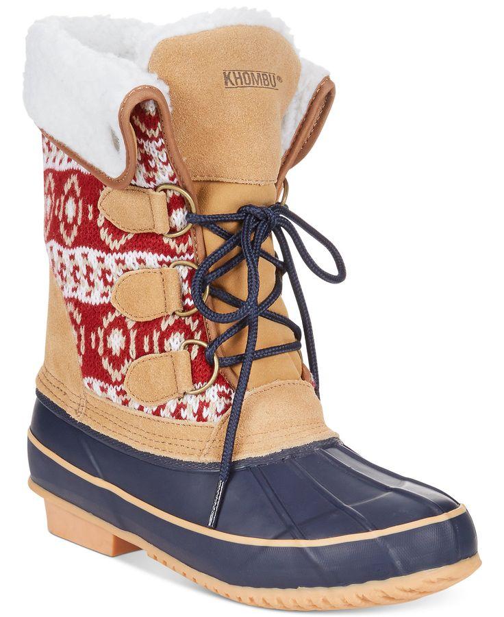 Khombu Maya Cold Weather Faux-Fur Boots - Winter & Rain Boots - Shoes - Macy's