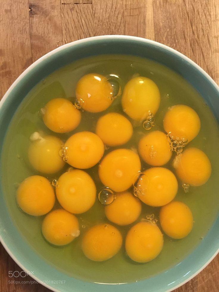 Raw eggs yoke and whites by ShaundaSmithRoberts