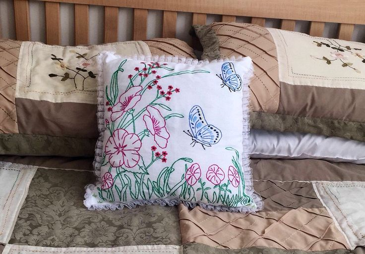 A personal favorite from my Etsy shop https://www.etsy.com/ca/listing/573112917/embroidered-pillow-accent-pillow