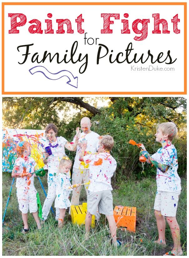 Paint Fight Family Pictures! {Our Christmas Card} - fun photography session Capturing Joy with KristenDuke.com