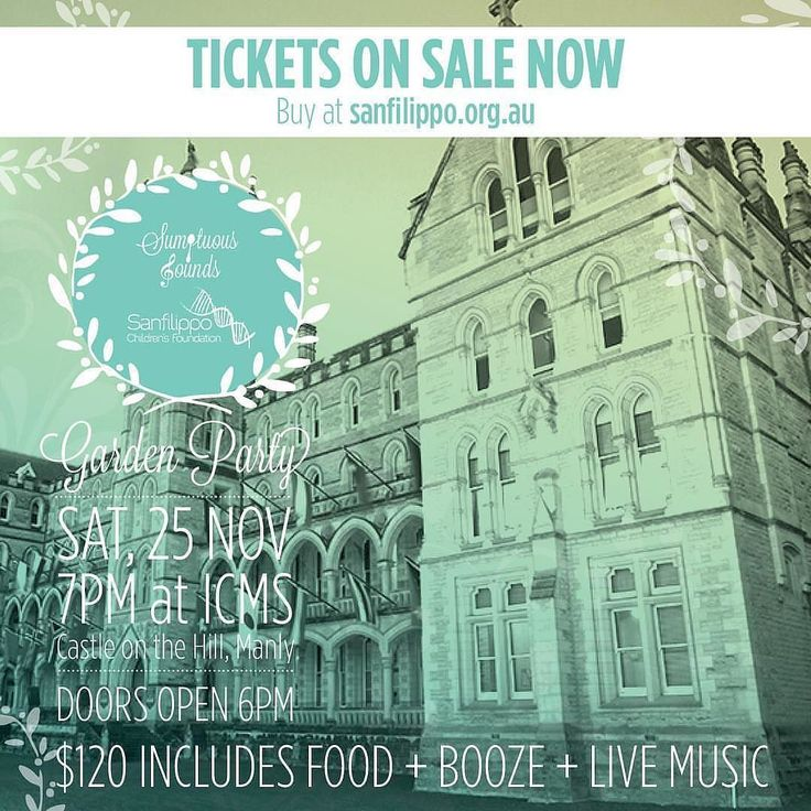 """RepostBy @sfcfoundtn: """"Early bird special... Tickets are selling for our Sumptuous Sounds - Garden Party event at 'The Castle on the Hill' (ICMS) in support of the SCF. Gather your friends or your partner and get in early! Our early bird rate of just $110 ends 30 September. Farewell Spring and welcome in Summer in style. It's going to be fabulous with traditional garden games vibrant tunes flowing summer dresses as well as flowing wine and beer. Tickets are $120 which includes all food…"""