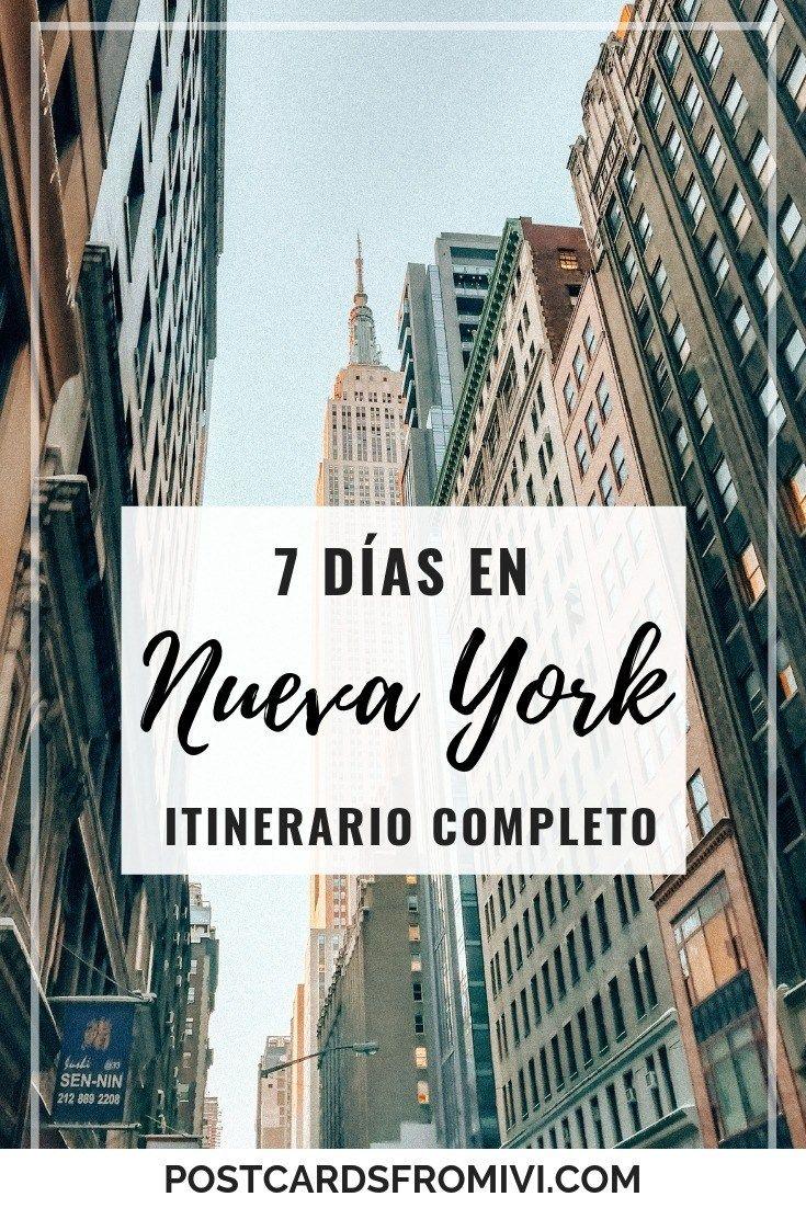 7-day itinerary in New York   – paseando por el mundo
