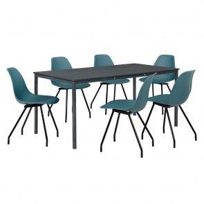 [en.casa] Set mobili sala da pranzo con tavolo e 4 o 6 sedie 176,30 €