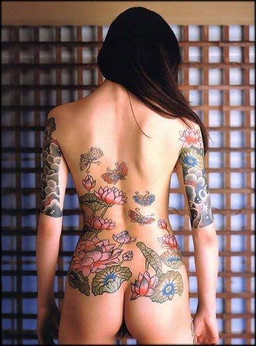 sexy naked girls with full body tattoos