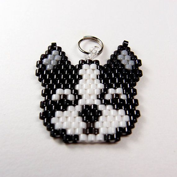 Hey, I found this really awesome Etsy listing at https://www.etsy.com/listing/116360770/boston-terrier-charm-delica-seed-beads