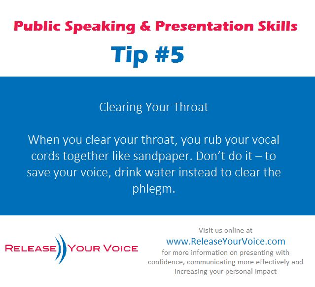 Public Speaking & Presentation Skills Tip #5 - Clearing Your Throat