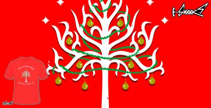 Magliette - Design: White Christmas Tree of Gondor - by: Boggs Nicolas