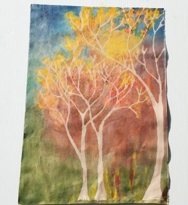 How to do a Fall Glue Batik. This is such a great site for kids art projects!