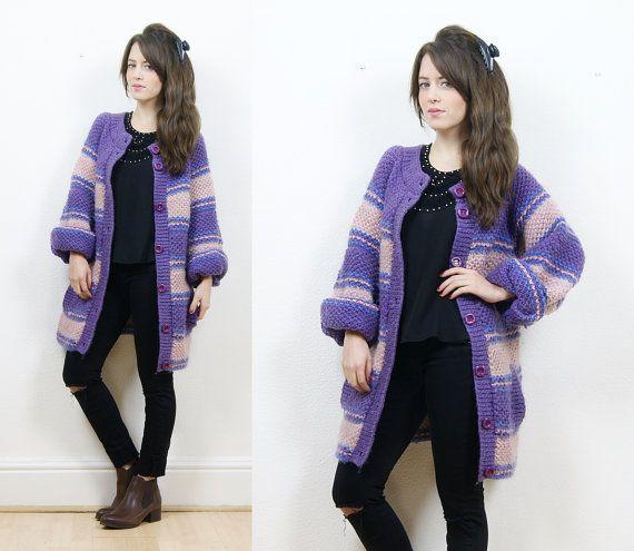 Boho chunky knit cardigancosy winter by bohokimono on Etsy