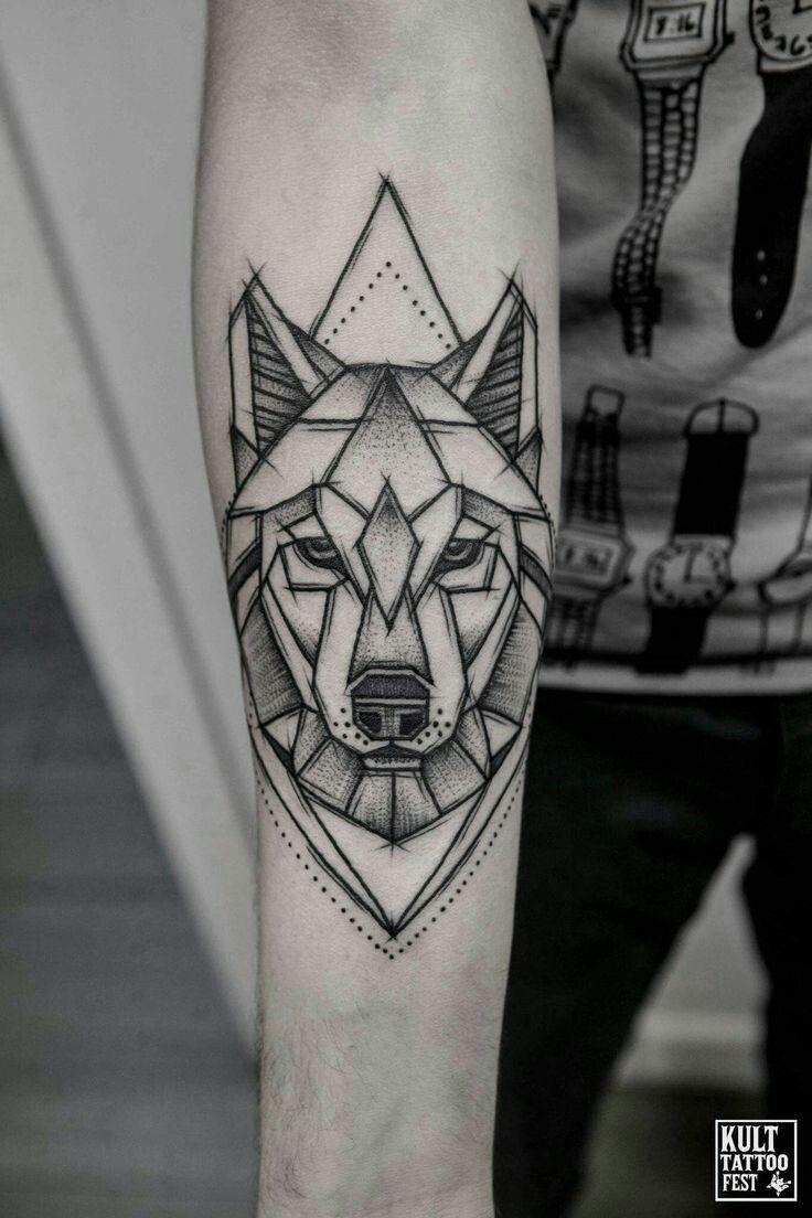 35 Geometric Animal Tattoo Ideas Inspiration Brighter Craft Geometric Animal Tattoo Geometric Wolf Tattoo Animal Tattoos
