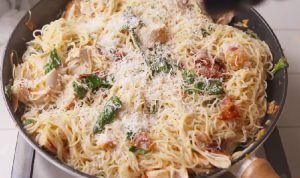 recette poulet toscane spaghetti