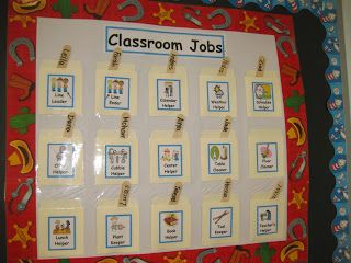 Classroom Job Chart with free printable labels | Job Chart ...
