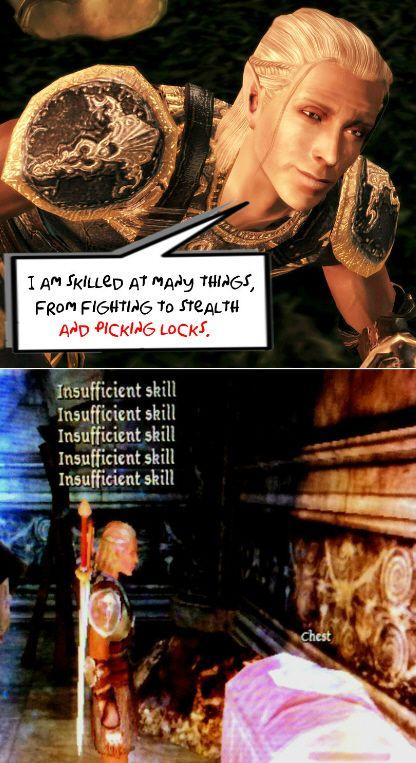 Zevran, Dragon Age: Origins - s'okay, I'm a rogue. I got you covered, Zev!