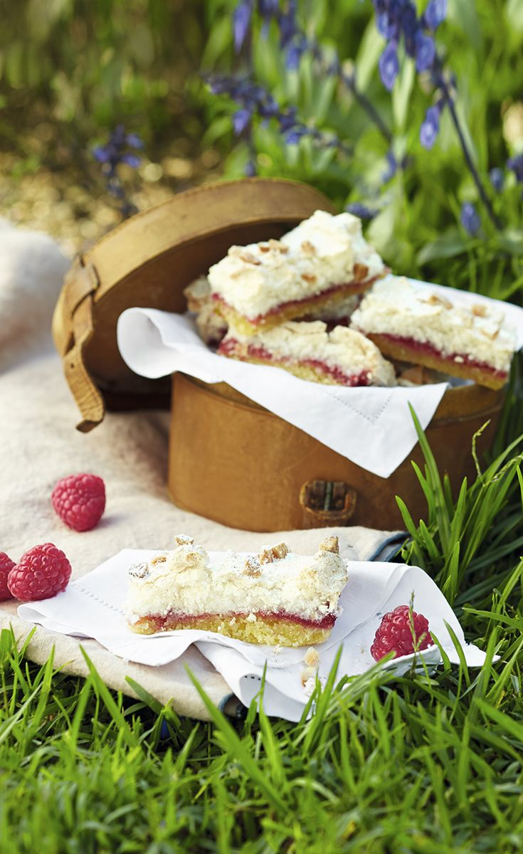 Deliciously light and fluffy raspberry coconut slices – perfect for an afternoon tea with friends this summer. Find more baking recipes on the Waitrose website.