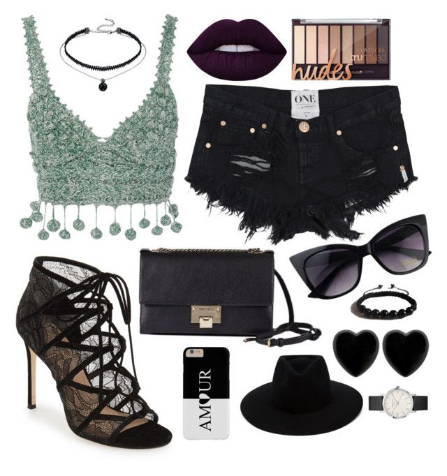 """""""Going Out"""" by diyloving on Polyvore featuring Rosie Assoulin, Jimmy Choo, rag & bone, Dollydagger, Shamballa Jewels and Lime Crime"""