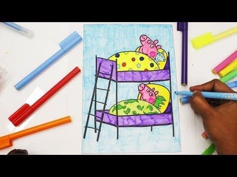 Learn Art l How To Draw and Color l Peppa Pig Drawing Coloring Videos For Children l Learn Colors - YouTube