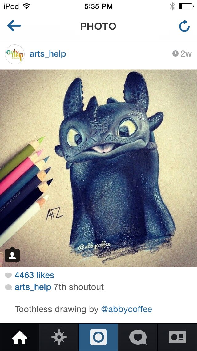 Cute toothless drawing | Amazing