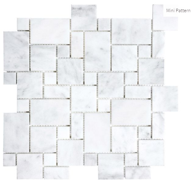 Carrara Extra Marble Mini Pattern #marble #faberstoneandtile