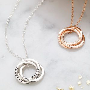 Posh Totty Designs Personalised Russian Ring Necklace - women's jewellery