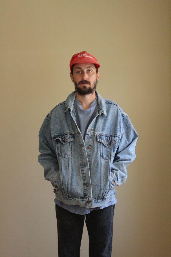 Levis Light Wash Oversized Denim Jacket Mens Large Denim
