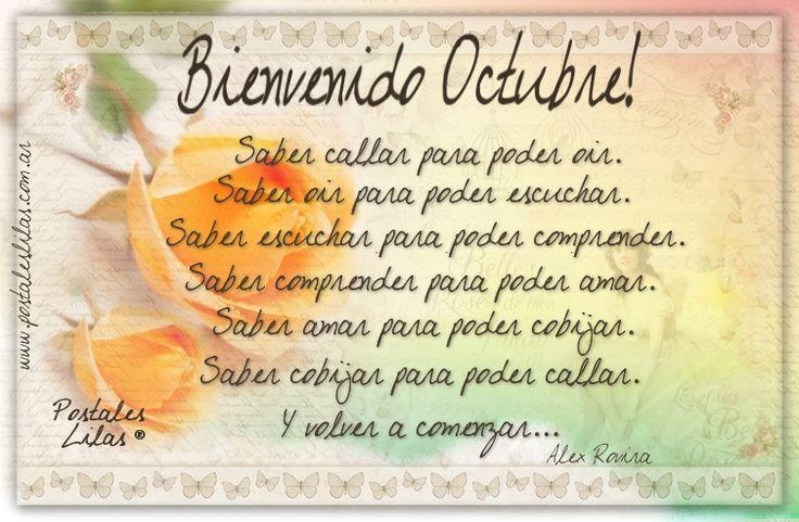 Feliz Octubre! #octubre http://www.postaleslilas.com.ar