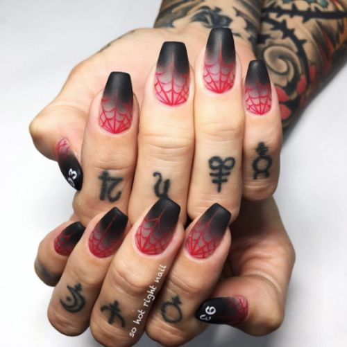 You So Goth Nail Art Essentials - Fashion Styles and Trends  You so gothic nail art deign. Follow my blog for nail art designs daily!   visit at:  https://nailartessentials.blogspot.com     #nailswag #nailart #instagood  http://nailartessentials.blogspot.com/2017/12/you-so-goth-nail-art-essentials-fashion.html
