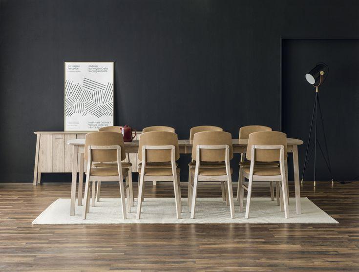 Store| Hans K - Flera generationers erfarenhet av design och kvalitet. Verona-serien är en stilren design som har följsamma vinklar och hög sittkomfort. Idén bygger på att du själv är delaktig i utformningen genom att välja bas, rygg och sits i trä, läder eller tyg. Tack vare sin stilrena, moderna form, hållbarhet och höga sittkomfort tar Verona en lika självklar plats i hemmet som det offentliga rummet. I serien finns även matbord i tre olika storlekar samt sideboards med sin unika form som…