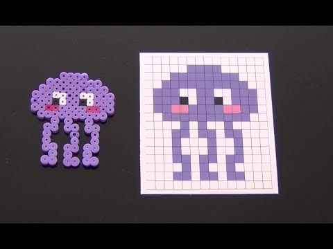 Cute Jelly Fish Perler Bead Pattern.  Laceys Crafts is all about sharing super simple and adorable crafts for kids. Enjoy!
