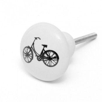 Bouton de meuble vintage Vélo noir - Boutons-Mandarine.com