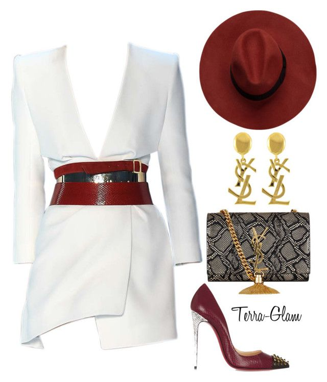 """""""Sexy Wine"""" by terra-glam ❤ liked on Polyvore featuring Alexandre Vauthier, Christian Louboutin and Yves Saint Laurent"""