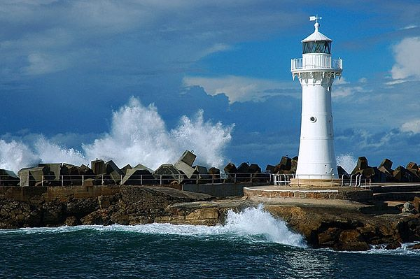 The Wollongong Breakwater Lighthouse, The Lighthouse at Wollongong Harbour, Wollongong, NSW, Australia. ****been here 