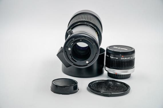 Tokina 100 300mm At X With Constant F4 Aperture Lens Canon Fd Etsy Telephoto Zoom Lens Leather Case Genuine Leather