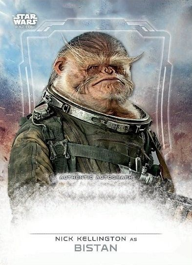 Star Wars Rogue One Bistan Card Star Wars: Rogue One Cards Reveal Character Names & Actors