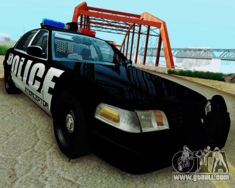 Ford Crown Victoria Police Interceptor 2011 para GTA San Andreas traseira esquerda vista