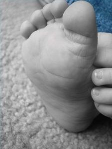How to Make Homemade Plaster to Mold a Baby's Hand or Foot - using flour, salt, water, and acrylic paint sealer