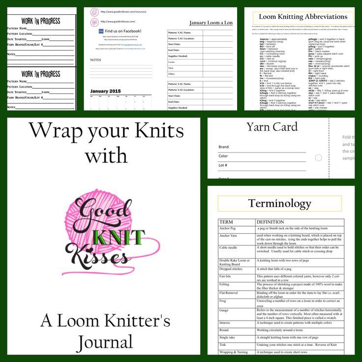 Knitting Project Journal : A loom knitters journal goodknit kisses on pinterest