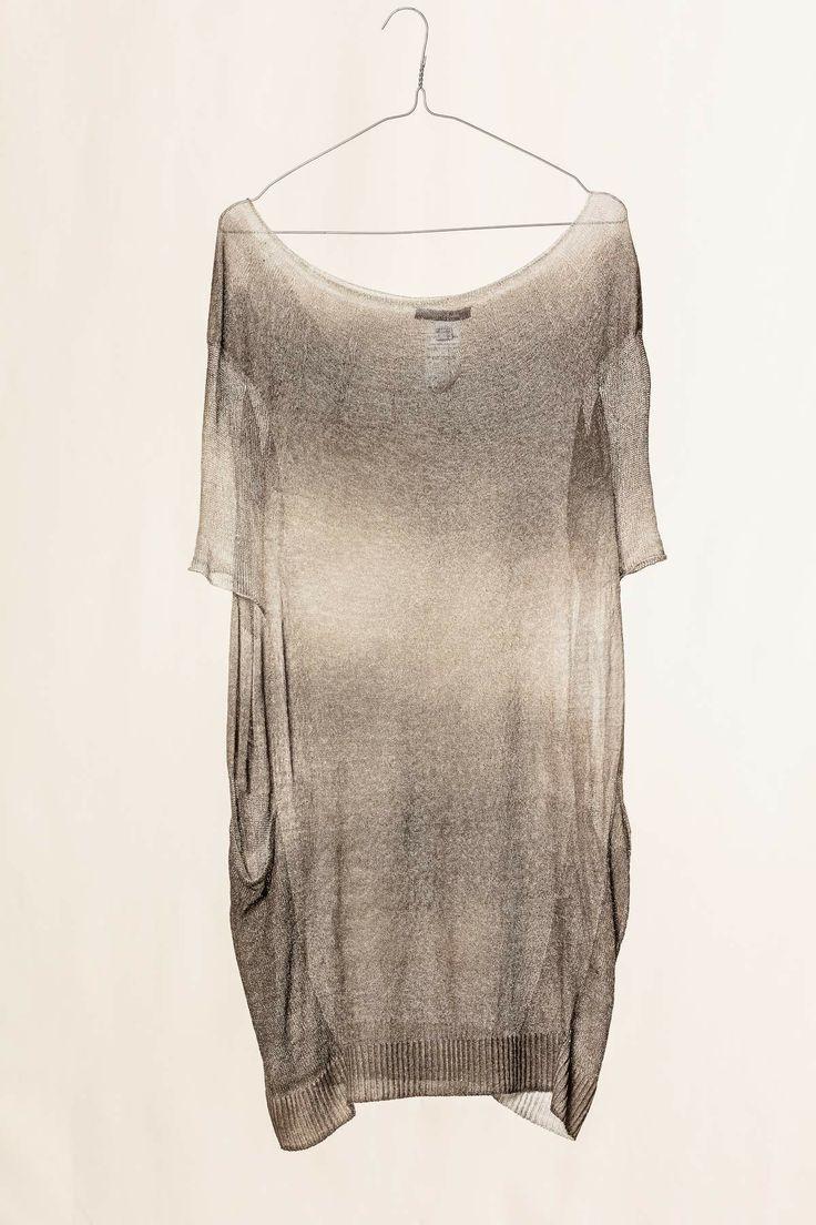 Maxi maglia sfumata marrone /grigio. #pleinsud #dressingfab #shoponline