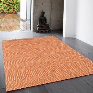 Sloan Orange Geometric Rug by Asiatic 1