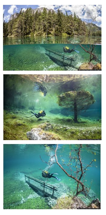 Underwater Hiking In This Austrian Lake Looks Like The Coolest Scuba Diving Adventure Ever #feelaustria